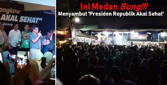 Bikin Merinding, Sambutan Masyarakat Medan kepada 'Presiden Republik Akal Sehat' Rocky Gerung