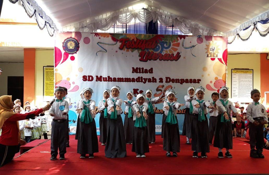 Luar Biasa! Tampilan Kreativitas Seni Anak-Anak di Perayaan 50 Tahun SD Muhammadiyah 2 Denpasar