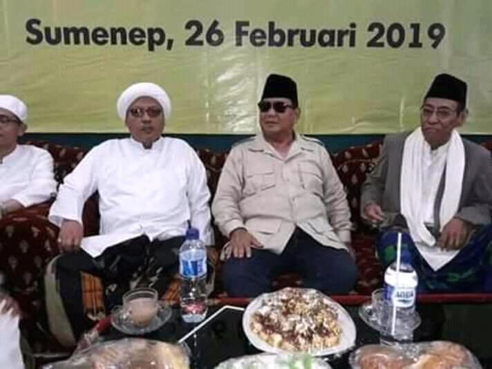 Di Hadapan Ulama Madura, Prabowo Ajak Warga Sumenep Kawal Pemilu
