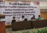 KPU Denpasar Gelar Rakor Penyusunan DPT dan DPK Pemilu 2019