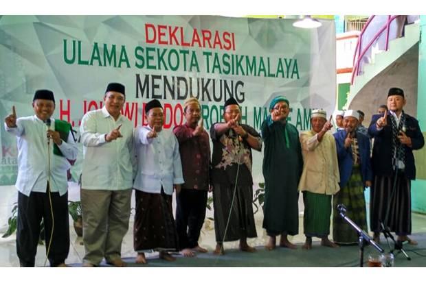 Deklarasi Ulama se-Kota Tasikmalaya Dukung Jokowi-Maruf Diwarnai Teriakan 'Prabowo' Presiden