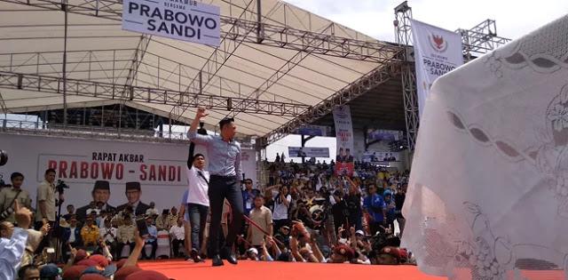 Kampanye di Bandung, Agus Yudoyono Ajak Warga Jabar Menangkan Prabowo-Sandi