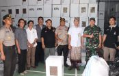 Pastikan Logistik Pemilu Aman, Kapolresta dan Dandim 1611 Badung Tinjau Gudang KPU Denpasar
