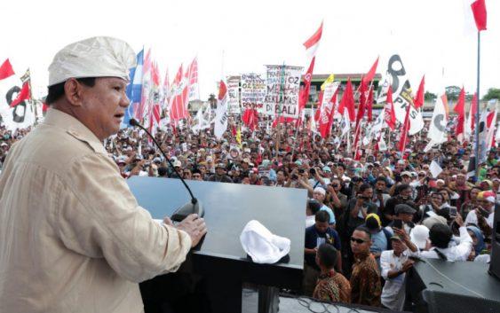 Bidik Suara di Bali, Prabowo: Bila Dicaci,Balas dengan Senyuman
