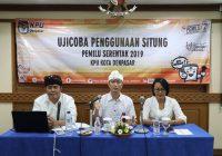 KPU Kota Denpasar Gelar Uji Coba Situng Pemilu 2019