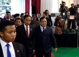 Prabowo Mengawal Jokowi Saat Hadiri Rapim Kemhan 2020