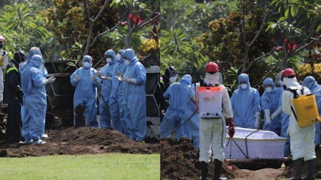 Sempat Ditolak Warga, Jenazah Gadis PDP Covid-19 Bisa di Makamkan Atas Bantuan Polri dan TNI