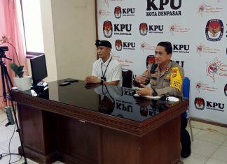 Kunjungi KPU Denpasar, Kapolresta Bahas Kelanjutan Pilkada