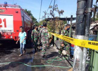 Dilalap Si Jago Merah, Lima Asrama TNI Sudirman Hangus Terbakar