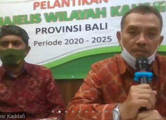Dampak Covid19, KAHMI Bali Di Lantik Secara Virtual