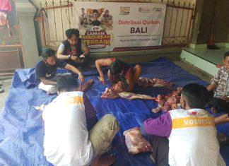 Wujud Rasa Syukur, Global Qurban-ACT Bersama Komunitas Muslim Bali Dirikan Dapur Qurban