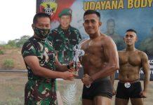 Wujudkan Fisik Prajurit Yang Kuat, Kodam IX/Udayana Gelar Final Body Building
