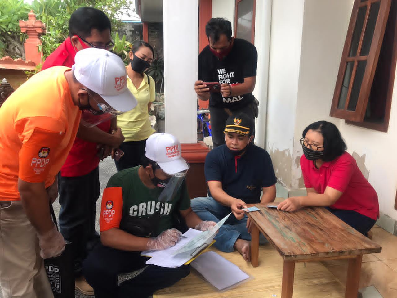 KPU Denpasar Monitoring Proses Pelaksanaan Coklit di Tiga Lokasi
