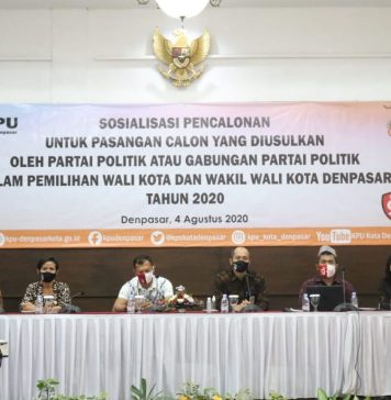 Dihadiri Pimpinan Parpol, KPU Sosialisasi Tahapan Pencalonan Pilwali Denpasar 2020