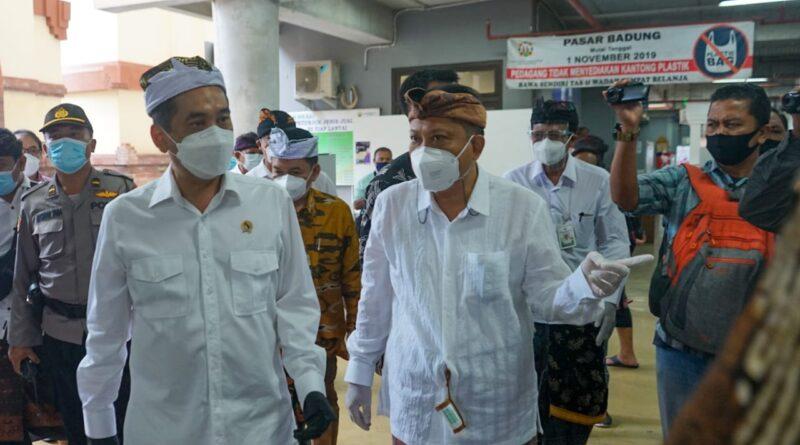 Walikota Denpasar Sambut Kunjungan Menteri Perdagangan Di Pasar Badung