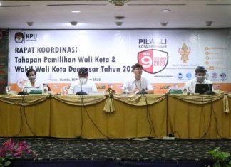 Gelar Rakor Pengelolaan logistik, KPU Denpasar Ingatkan Badan Adhoc Jaga Integritas Dan Netralitas