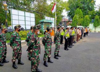Terapkan Pergub No. 46 Tahun 2020, Kodim 1611 Badung Gelar Apel Patroli Satgas Enforce Kerumunan