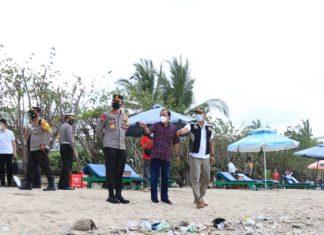 Gubernur Bali Pantau Penerapan Protokol Kesehatan di Destinasi Wisata