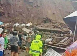 Bencana Longsor di Manado Renggut Empat Jiwa