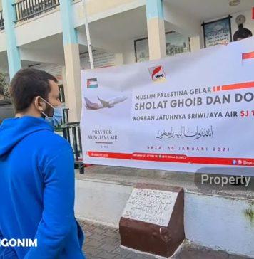 Bersimpati, Warga Palestina Salat Gaib untuk Korban Sriwijaya Air