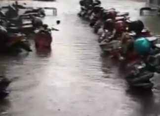 Motor Terendam Air di Kantor Gubernur Ganjar, Netizen: PSI Mana Suaramu?