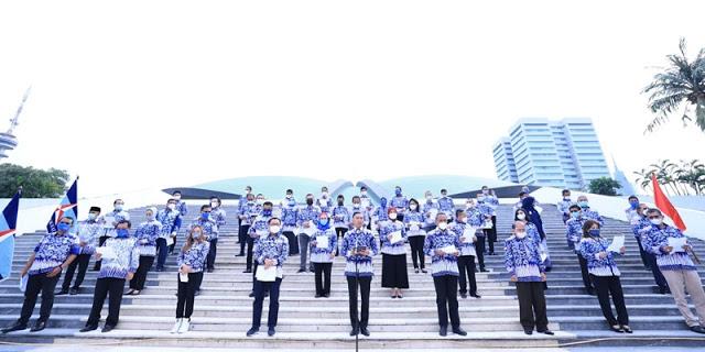 Dipimpin Ibas, Fraksi Demokrat Ikrarkan Setia Pada AHY Lewat Panca Setia Bhayangkara Demokrat