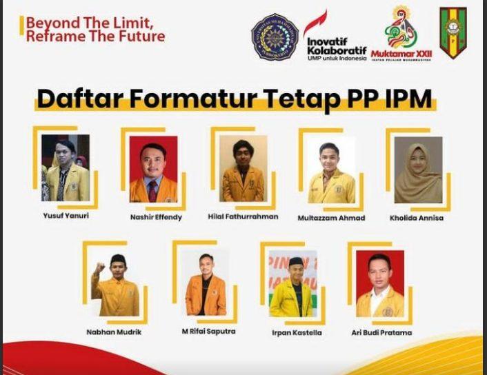 Muktamar IPM: Sembilan Formatur Terpilih Pimpinan Pusat IPM