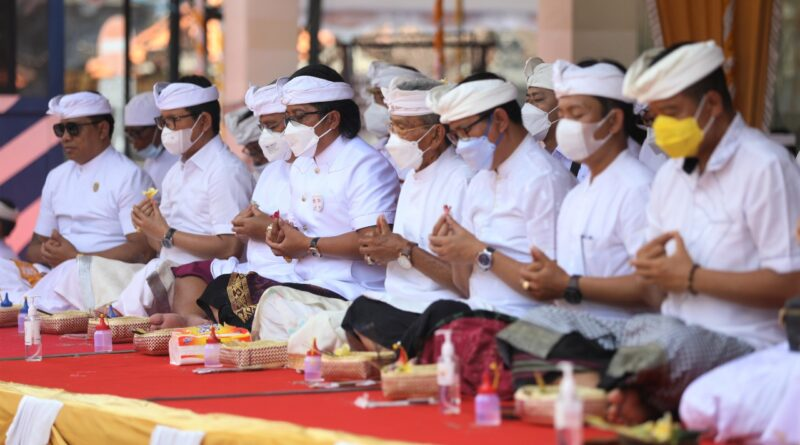 Tawur Agung Kesanga, Giri Prasta Berharap Jagat Badung Damai Dan Pandemi Lekas Berlalu