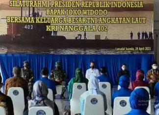 Bertemu Keluarga Korban KRI Nanggala 402, Presiden Jokowi Janjikan Bangunkan Rumah