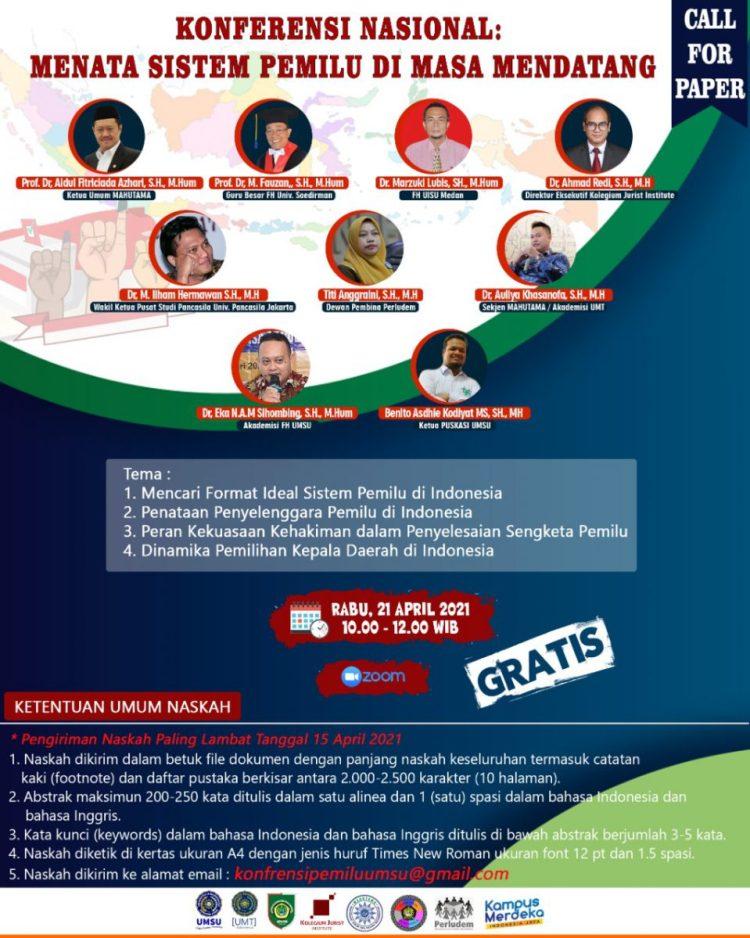Konferensi Nasional: Menata Sistem Pemilu di Masa Mendatang