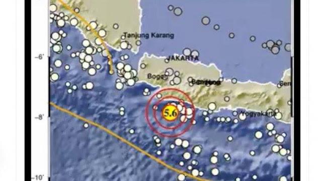 Sukabumi di Guncang Gempa 5,6 Magnitudo, Getaran Terasa hingga Jakarta