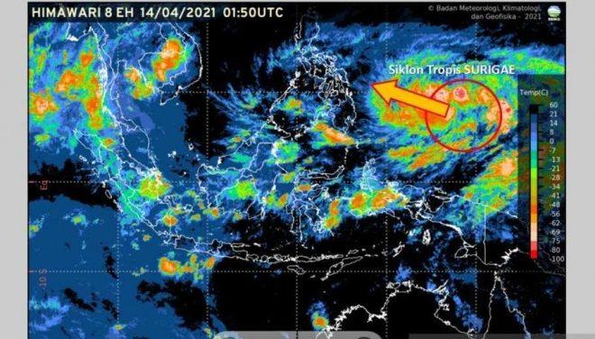 Siklon Surigae Meningkat 24 Jam ke Depan, 9 Provinsi Diminta Waspada