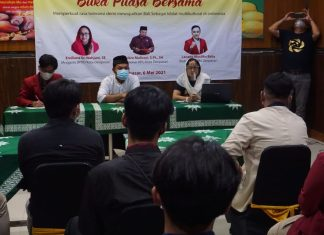 Wujud Konkret Bhineka Tunggal Ika, Emiliana Gandeng Mahasiswa Muhammadiyah Gelar Buka Puasa Bersama