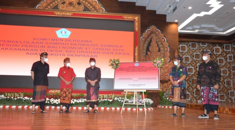 Gubernur Koster Dan Walikota Jaya Negara Sosialisasikan Pengelolaan Sampah Berbasis Sumber