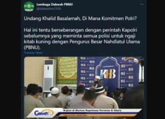 Lembaga Dakwah PBNU Protes Polri Undang Ustadz Khalid Basalamah Berceramah
