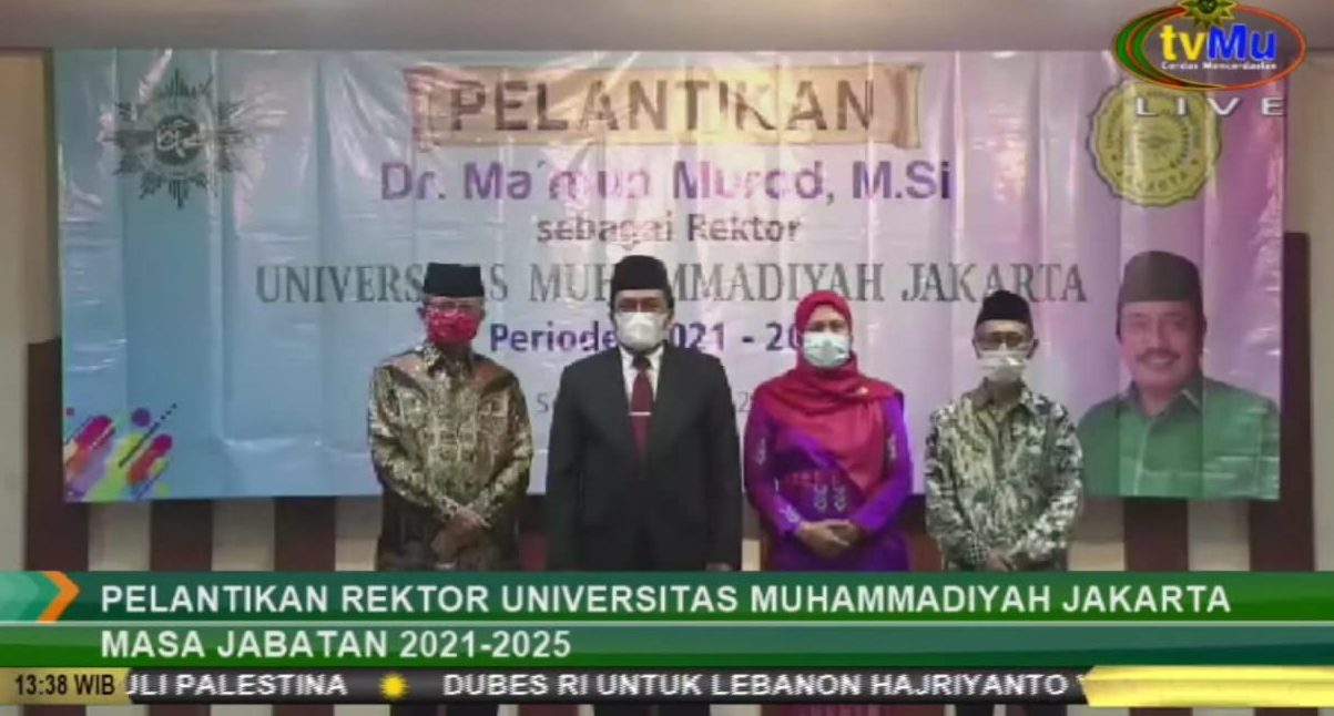 Resmi Jadi Rektor Universitas Muhammadiyah Jakarta, Ma'mun Murod Utamakan Kejujuran dan Amanah