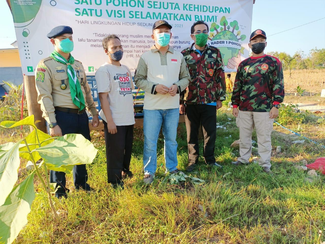 Gerakan Tanam Satu Juta Pohon, Pemuda Muhammadiyah Jatim Ajak Masyarakat Jaga Kelestarian Lingkungan