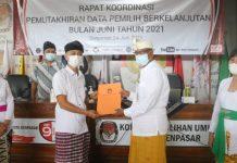 KPU Denpasar Gelar Rapat Koordinasi Pemutakhiran Data Pemilih Berkelanjutan Bersama Partai Politik
