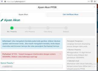 Orangtua Murid Keluhkan Gangguan Sistem PPDB Online