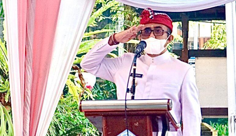 Walikota Jaya Negara Pimpin Apel Hari Kelahiran Pancasila Tahun 2021