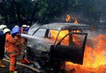 Mengenaskan, Ibu dan Anak Terbakar Dalam Mobil di Bandung