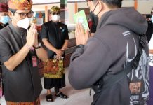 Bupati Giri Prasta Launching Penyerahan BLT PPKM Darurat Kabupaten Badung