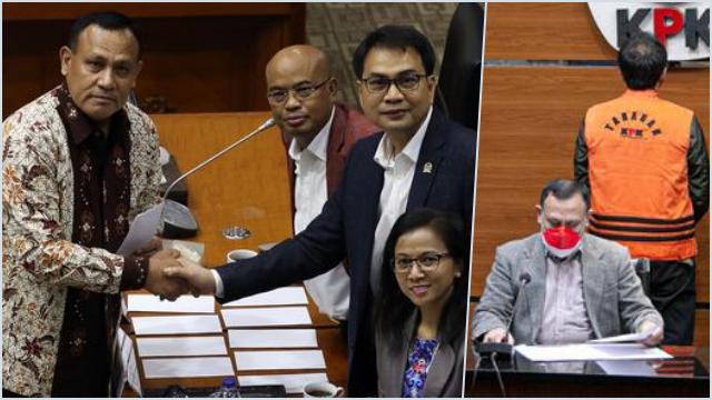 Azis Syamsuddin yang Umumkan Firli Jadi Ketua KPK, Kini Firli Umumkan Azis Sebagai Tersangka