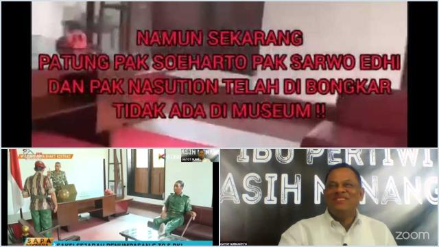 Jenderal Gatot Perlihatkan Indikasi PKI Telah Menyusup ke Tubuh TNI: Patung Soeharto Dibongkar
