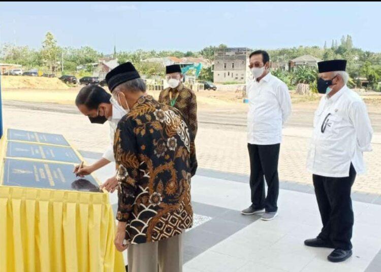 Presiden Jokowi Apresiasi Kiprah Muhammadiyah Membangun Bangsa Saat Meresmikan Kampus Terpadu Muallimin
