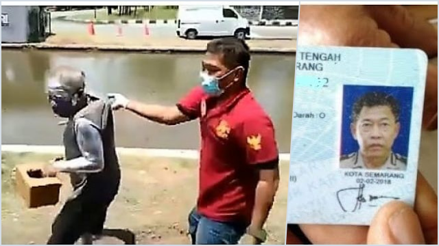 Manusia Silver Ditangkap Satpol PP karena Minta-minta, Rupanya Purnawirawan Polri