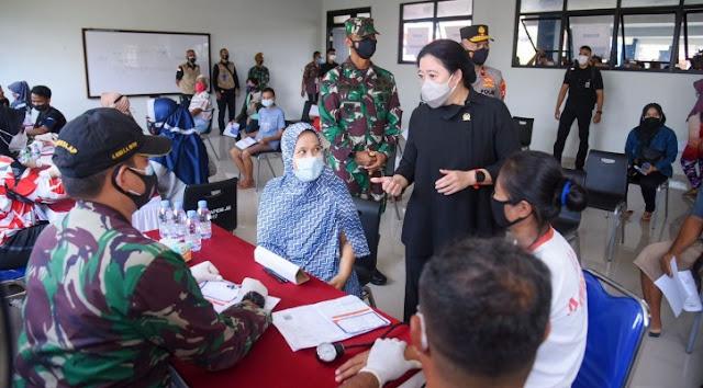 Blusukan Vaksinasi di Jakbar, Puan Maharani Tak Dikenali Warga,