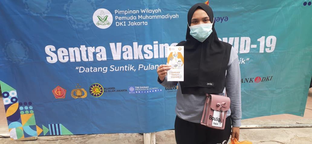 Pemuda Muhammadiyah Jakarta Gelar Vaksinasi 1.500 Warga Dosis Pertama